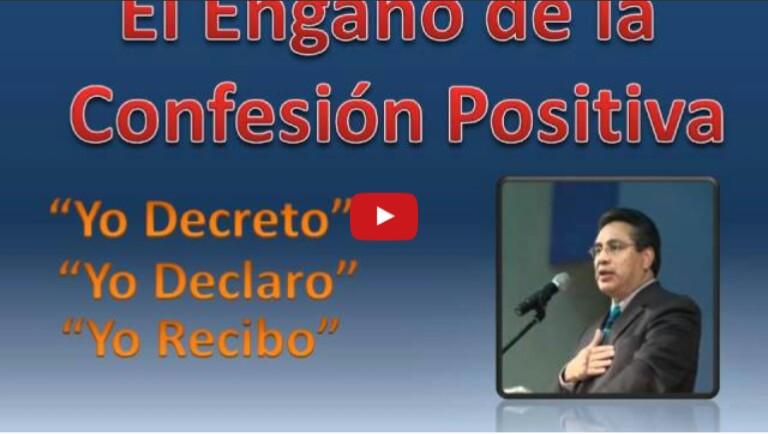 El Engaño de la confesion Positiva por Pastor Chuy Olivares(audio)