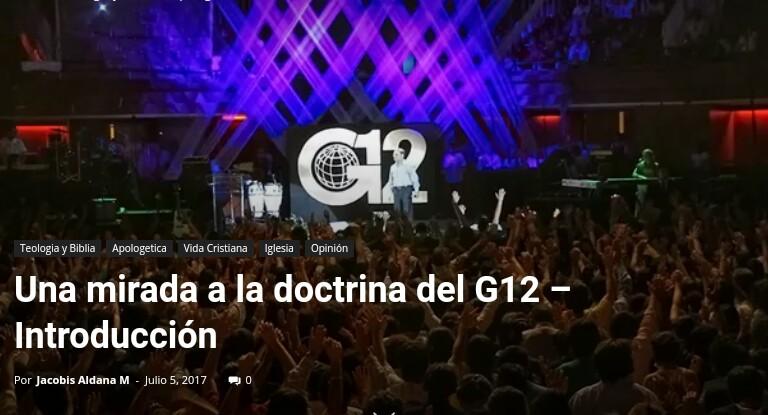 Una mirada a la doctrina del G12 – Introducción Por Jacobis AldanaM.