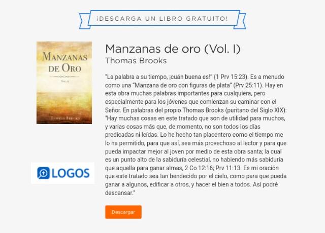 Manzanas de Oro (Volumen. 1)… libro gratuito del mes para BibliotecaLogos