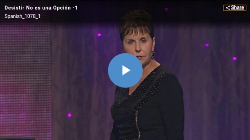 Desistir No es una Opción Pte.2 por JoyceMeyer