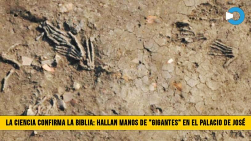 """Científicos hallan manos de """"Gigantes"""" en el antiguo Palacio de José enEgipto"""