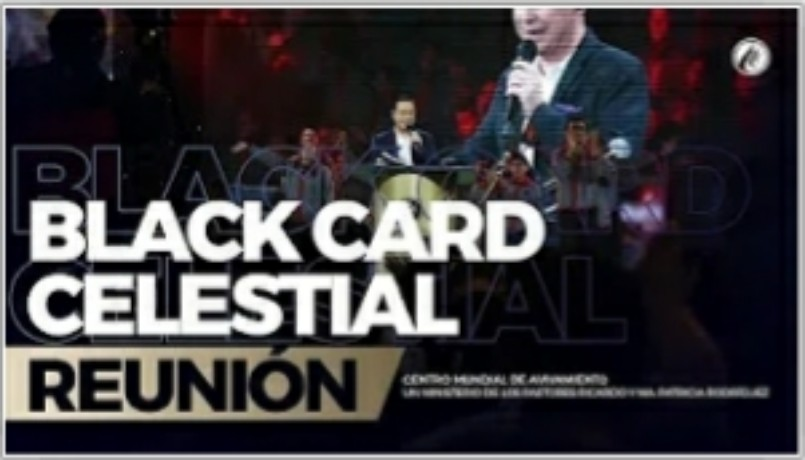 Black Card Celestial por Ps. RicardoRodríguez