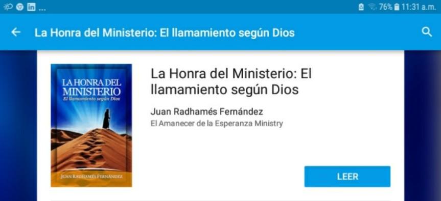 La Honra del Ministerio: El llamamiento según Dios por Juan RadhamesFernandez